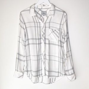 RAILS Hunter White Plaid Button Up.